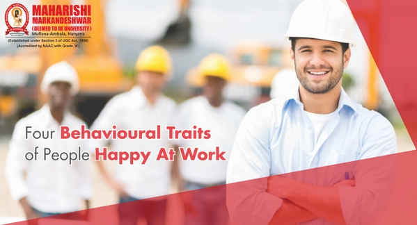 Four Behavioural Traits of People Happy At Work